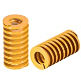 uxcell 16mm OD 30mm Long Spiral Stamping Light Load Compression Mould Die Spring Yellow 2Pcs