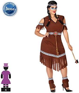 Atosa-56500 Disfraz India, Color marrón, X l (56500: Amazon.es ...