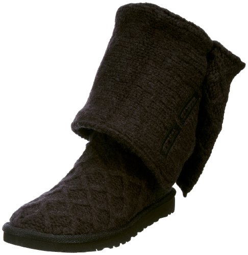 Women's Ugg , Lattice Cardy boot Color: Black Size: (Cardy Fashion Boot)