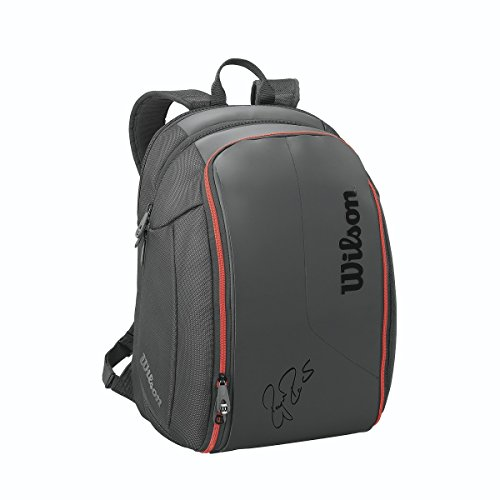 (Wilson Federer DNA Collection Racket Backpack, Black)