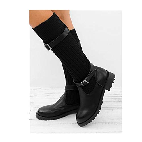 - YPKDB Chunky Stretch Women Sexy Booties Sock Boots(Black,10)