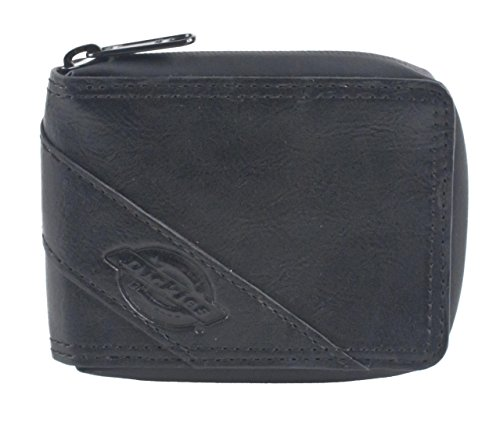 Dickies Zip Around Slimfold Bifold Wallet (Black)