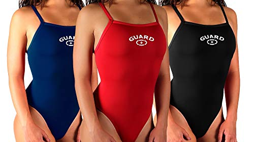 Adoretex Girl's/Women's Guard Xtra Life Lycra One Piece Swimsuit (FGN02) - Red - 30 ()