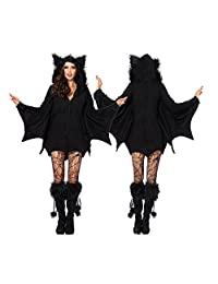 BSTcentelha Ladies Cosplay Vampire Bat Lady One Piece Dress Halloween Costume