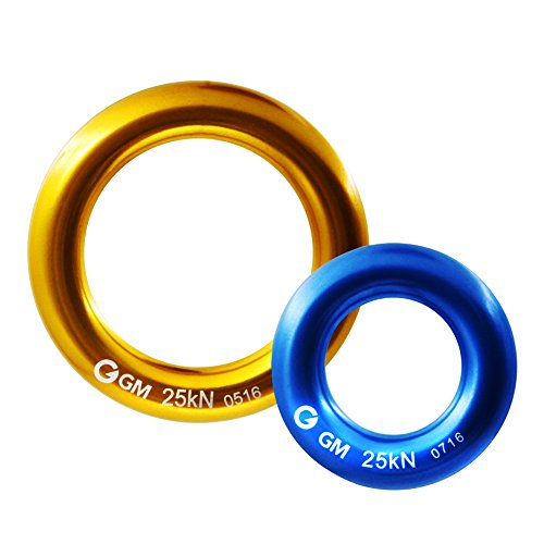 (GM CLIMBING Rappel Ring Connector Pack of 2 for Rope Retriever Friction Saver Set )