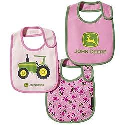 John Deere Girl Infant Tractor Bib Set