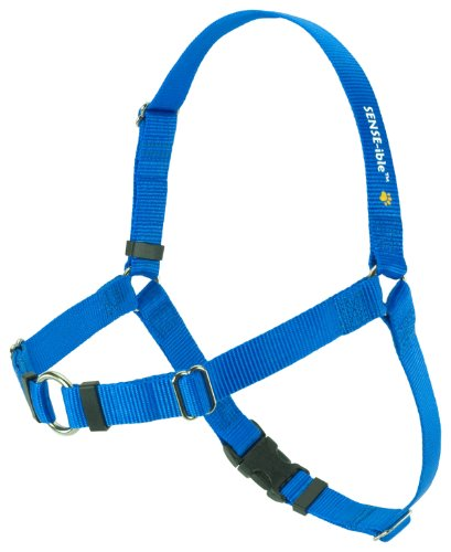 SENSE-ible No-Pull Dog Harness (Blue, Large Wide)