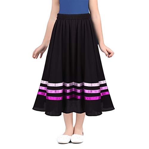 IEFIEL Falda de Danza Niña Flamenco sevillanas Tango Baile Vals ...