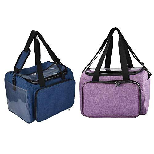 DOPTHOI - Knitting Tote Bag Yarn Storage Bag for Thread Wool Crochet Hook Knitting Needle Crochet Hooks Organizer For Women Travel