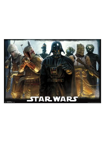 Star Wars Darth Vader Bounty Hunters Poster - 24 inches X 36 inches