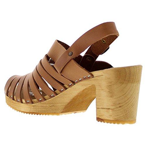 Moheda Womens Sandals Linda Womens Moheda Leather Cognac Leather Sandals Linda dwawBq4A