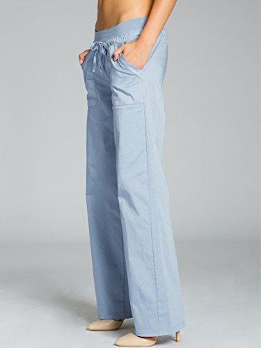 CASPAR Fashion - Pantalón - relaxed - para mujer azul claro