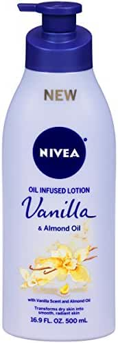 Nivea Oil Infused Lotion Vanilla and Almond Oil, 16.9 Fluid Ounce (Pack of 3)