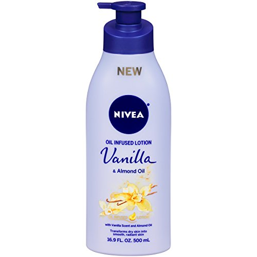 NIVEA Oil Infused Body Lotion Vanilla and Almond Oil, 16.9 Fluid Ounce