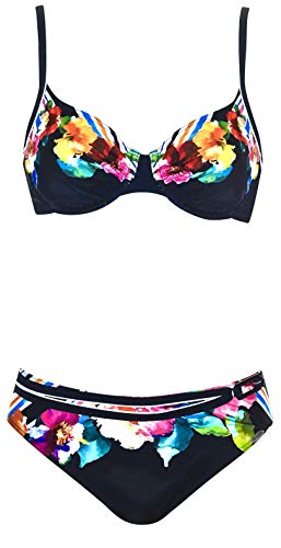 Sunflair Damen Bügel Bikini-Set Flowers and Stripes