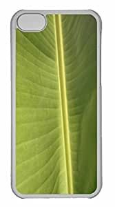 iPhone 5C Case, Personalized Custom Tropical Leaf 2 for iPhone 5C PC Clear Case