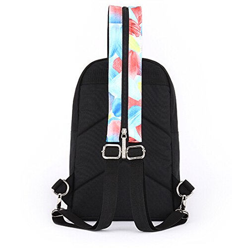 Multifunctional Chest Packs Backpack Single Shoulder Bag Plume Printed