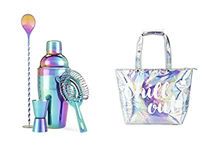 Rainbow Barware Set and Insulated Tote