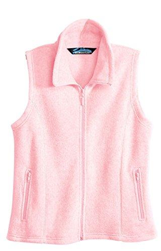 Tri-Mountain Women's Peak Performers Anti-Pilling Vest. 7020 Crescent, Light Pink, Medium