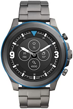 Fossil Men's Latitude Hybrid HR Smartwatch with Always-On Readout Display, Heart Rate, Activity Tracking, Smartphone Notifications, Message Previews