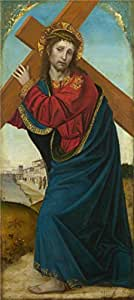Oil painting 'Ambrogio Bergognone - Christ carrying the Cross,probably 1501' printing on Perfect effect Canvas , 12x27 inch / 30x68 cm ,the best Laundry Room decoration and Home decoration and Gifts is this High Resolution Art Decorative Canvas Prints