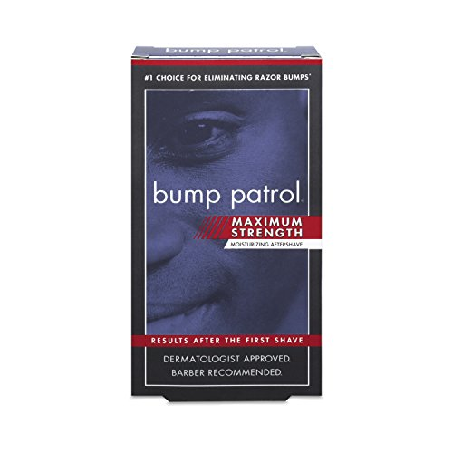Bump Patrol Maximum Strength Aftershave Formula - After Shave Solution Eliminates Razor Bumps and Ingrown Hairs - 2 Ounces (Best Men's Razor Bump Treatment)