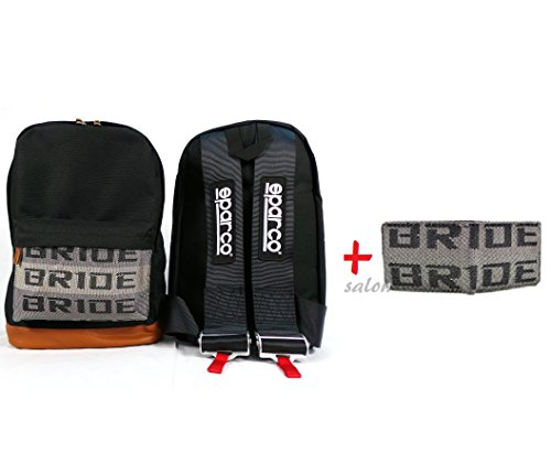 jdm-bride-racing-backpack-brown-bottom-with-black-sparco-racing-harness-shoulder-straps-super-cool-n