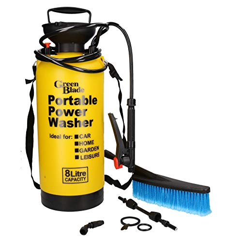 (8 Litre Capacity Portable Power Washer Cleaner Sprayer Cleaning Brush Car Wash)