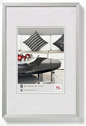 walther design Photo Frame, Silver, 29, 7 x 42 cm (Din A3)