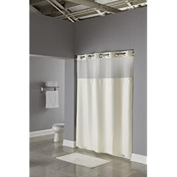 Hookless RBH53MY307 3 In 1 Shower Curtain, Beige