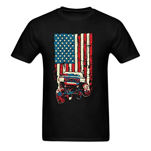 American Flag Jeep Grand Cherokee ZJ T-shirt For Men