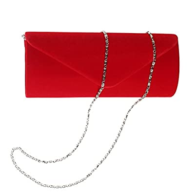 Color Scissor Evening Clutch, Womens Vintage Velvet Envelope Clutch Purses For Wedding And Party