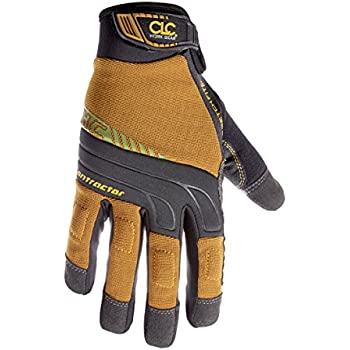 CLC Custom Leathercraft 160L Contractor XtraCoverage Flex Grip Work Gloves with Durable Synthetic Leather and Padded Knuckles