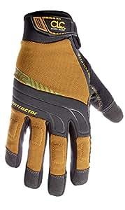 CLC Custom Leathercraft 160M Contractor XtraCoverage Flex Grip Work Gloves, Medium