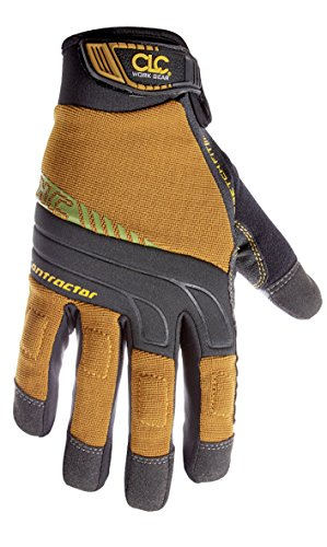 Padded Knuckle (CLC Custom Leathercraft 160L Contractor XtraCoverage Flex Grip Work Gloves with Durable Synthetic Leather and Padded Knuckles)