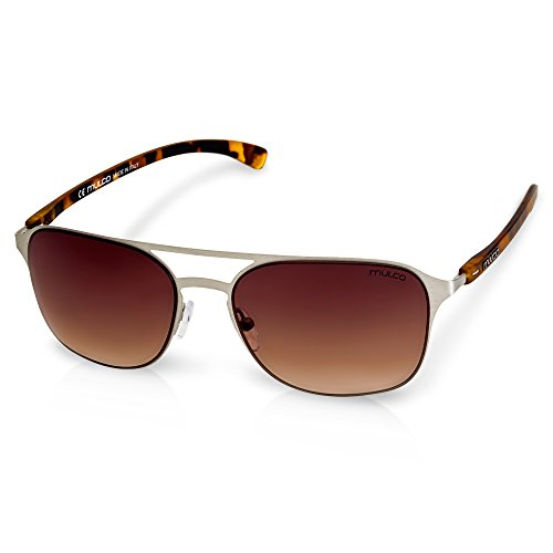 Mulco Illusion HM C6 Carey Frame / Brown Lens 50 mm - Hm Sunglasses