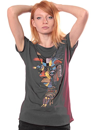 96270e0ede8 Amazon.com  Street Habit T-Shirt for Women - Abstract Reflections Top -  Cotton Top - Artwork by Plazmalab  Clothing