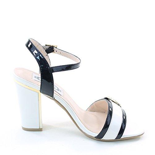 Nuovo Brieten Donna Fibbia Cinturino Alla Caviglia Tacco Grosso Sandali Comfort A Fascia