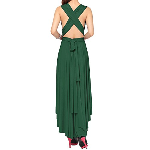 Vestidos Mangas Hi de Verde Longitud Way Maxi de Vestido lo Largo Mujer XS Infinity Piso Cóctel lo Transformer Sin de XL Hi Multi Dama de Dresses Honor Fiesta de 6qPZqpxnw