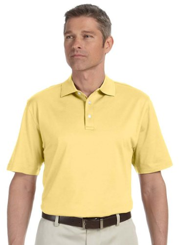 Devon & Jones Men's Jacquard Collar Polo Shirt, XXXX-Large, Butter