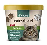 Best Hairball Remedies - NaturVet Hairball Aid Plus Pumpkin for Cats, 60 Review