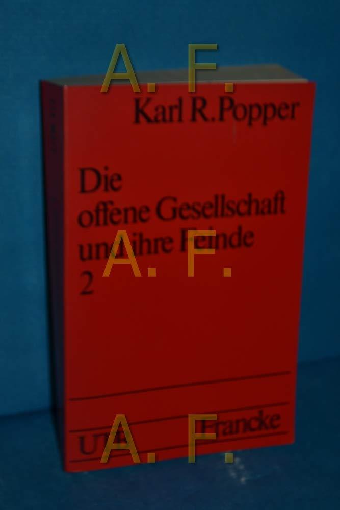 UTB für Wissenschaft: Uni-Taschenbücher Nr. 473: Die offene Gesellschaft und ihre Feinde Band 2 : Falsche Propheten: Hegel Marx und die Folgen