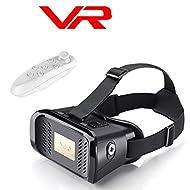 Casque de réalité virtuelle 3d/verres, Bevifi VR casque avec télécommande Bluetooth pour 8,9- 15,2cm téléphones portables pour Android Samsung Galaxy S7edge/A3LG Sony HTC, iOS iPhone 7/7Plus/6/6S Plus etc.