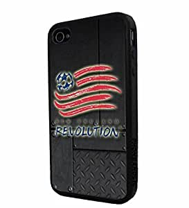 diy zhengSoccer MLS New England Revolution FC SOCCER FOOTBALL Logo, Cool iPhone 6 Plus Case 5.5 Inch / Smartphone iphone Case Cover Collector iphone TPU Rubber Case Black
