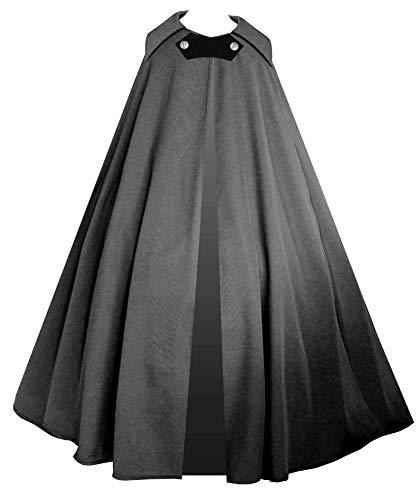 Lestat Halloween Costume (Cykxtees Victorian Vagabond Steampunk Gothic Historical Renaissance Cape Cloak)