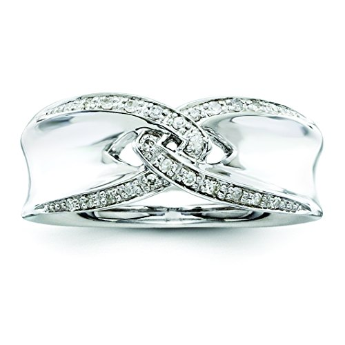 925 Sterling Silver Diamond Ring 6 Size (0.075ct ) (0.075 Ct Diamond)