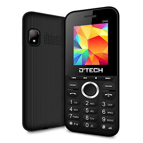 New D'Tech One - GSM Factory Unlocked Basic Feature Phone - Radio - Dual SIM - Music Player - Torch Light - VGA Camera (Black)