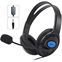 Headset Gamer C/Microfone E Fone Plug P2 3,5mm Ps4 Xbox One Pc Mobile