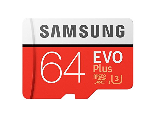 Samsung MB-MC64GA U3 MicroSDXC 64GB EVO+ Memory Card with Adapter (2017 Model)