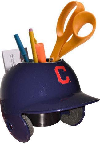 Indians Mini Helmet - Cleveland Indians MLB Mini Helmet Desk Caddy